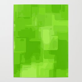 green and dark green square pattern abstract background Poster