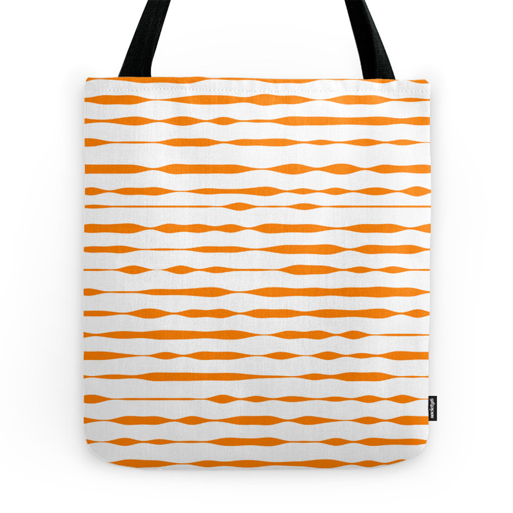 Orange Abstract Striped Pattern Tote Purse by designer357 (TBG7330933) photo