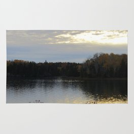 Downeast Autumn Reflections of Scattered Illuminations Rug