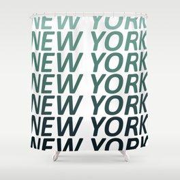 New York Green Haze Shower Curtain