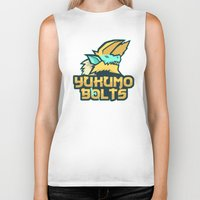 monster hunter Biker Tanks featuring Monster Hunter All Stars - The Yukumo Bolts by Bleached ink