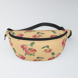 Peaches, Apricots on Yellow Background Fanny Pack