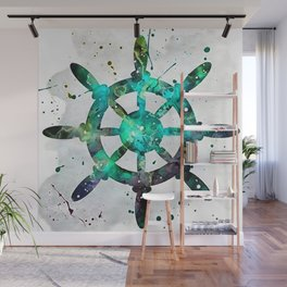 The Captains Wheel Wall Mural