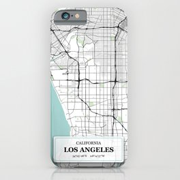 Los Angeles California with GPS Coordinates iPhone Case