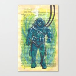 Scuba Diver Canvas Print