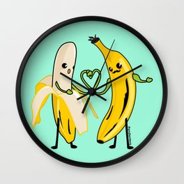 Love between men Wall Clock