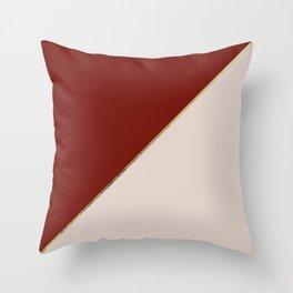 Modern geometric gold burgundy champagne elegant design Throw Pillow