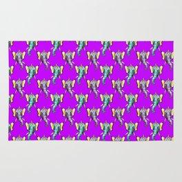 elephant alien butterfly pattern Rug