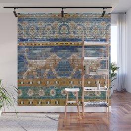 Lion Mosaic Wall Mural
