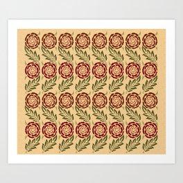 roses craft pattern Art Print