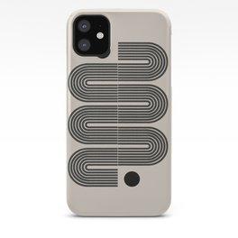 Geometric Mid Century Art iPhone Case