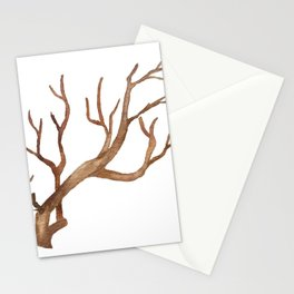 Watercolor twig illustration Stationery Cards