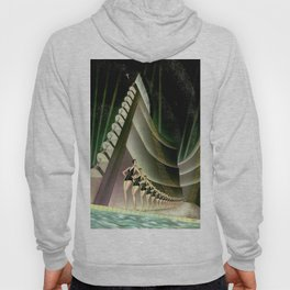'We Came Here to Shine' - Billy Rose's Acquacade Art Deco 1920's Theatrical Portrait Hoody