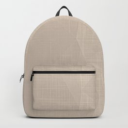 A Touch Of Beige - Soft Geometric Minimalist Backpack