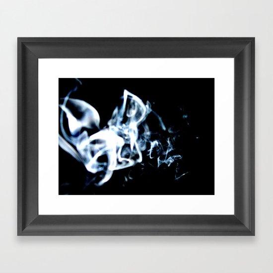Drifting Smoke Framed Art Print