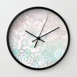 Spring blooms mandala Wall Clock