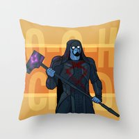 starlord Throw Pillows featuring Dance Off Bro - Companion Throw/Tote by Lydia Butz