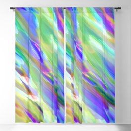 Colorful digital art splashing G401 Blackout Curtain