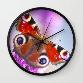 Beautiful Peacock Butterfly Wall Clock