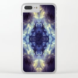 Abstract Kaleidoscope Mineral Crystal Texture Clear iPhone Case