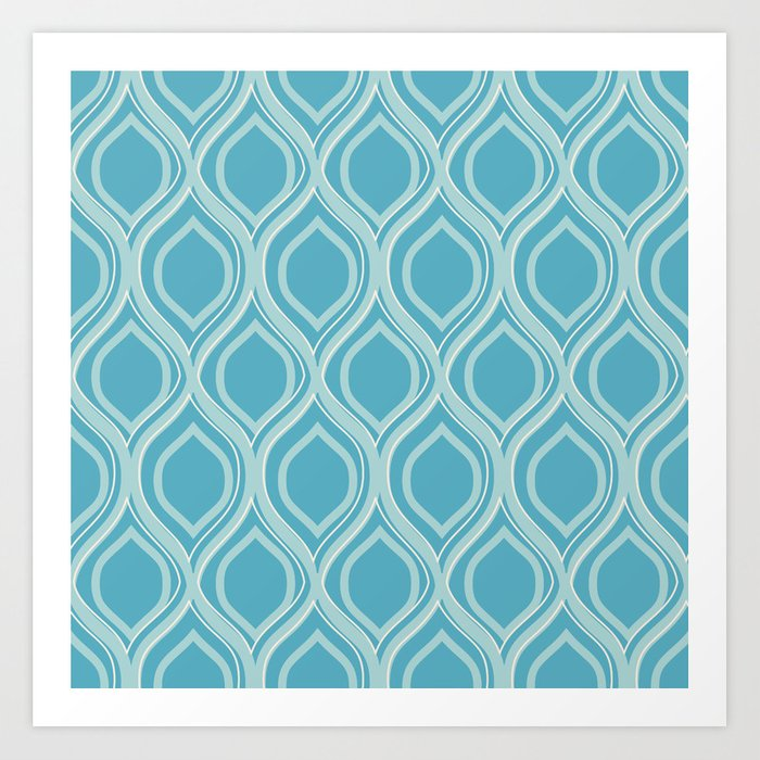 Abstract Turquoise Art Print