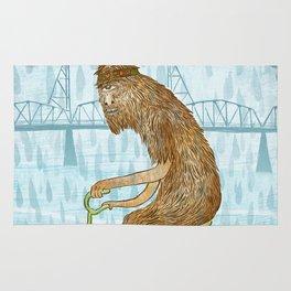 Dirty Wet Bigfoot Hipster Rug