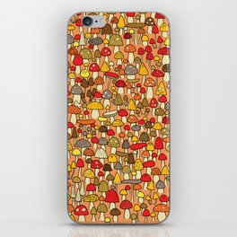 Mouse among mushrooms iPhone Skin