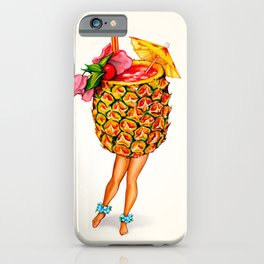 Tiki Cocktail Pin-Up - Pineapple iPhone Case