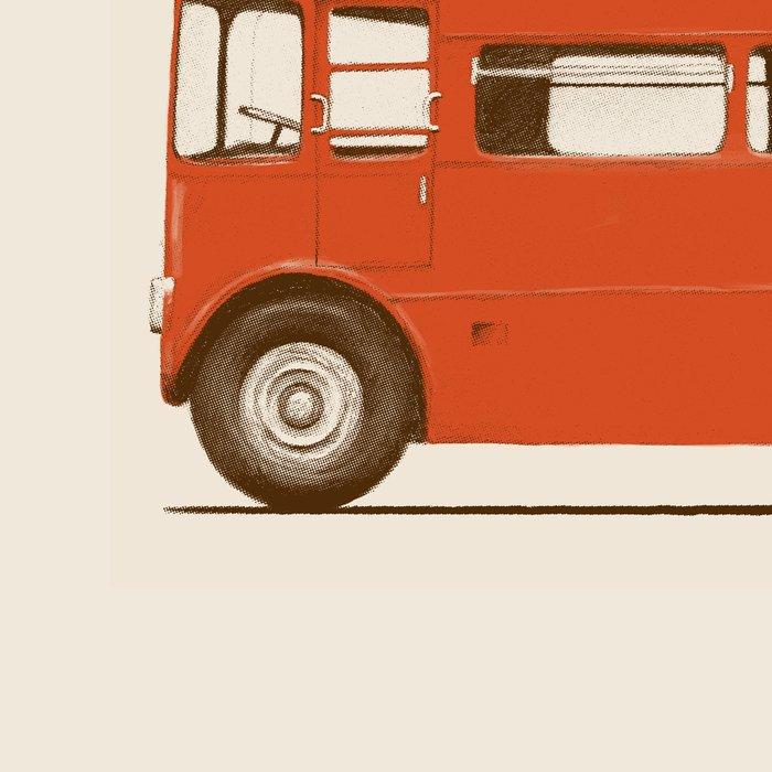 Red London Bus Leggings