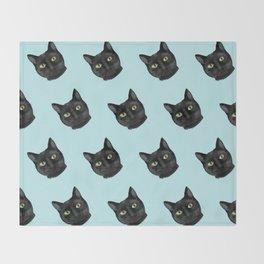 Black Cat Appreciation Day Throw Blanket