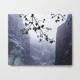 Secret Snow Mountain (crop) Metal Print