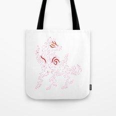 Okami Amaterasu - Cherry Blossom Form [WHITE] Tote Bag