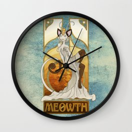Rule 63: Meowth Wall Clock