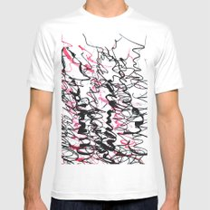 champagne White SMALL Mens Fitted Tee