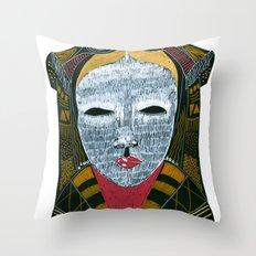 Black MASK Throw Pillow