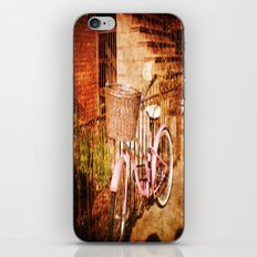 pink bike iPhone Skin