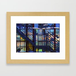 Jazzed Back Stairs Framed Art Print