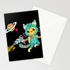 Kitty Cat Space Captain Stationery Cards