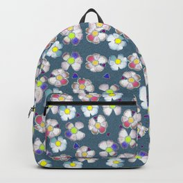 delft blue wild rose Backpack