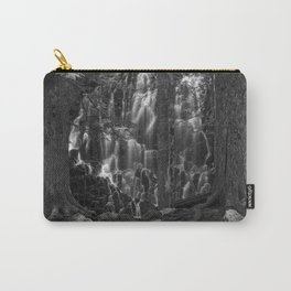 Ramona Falls in the Forest - B+W Carry-All Pouch