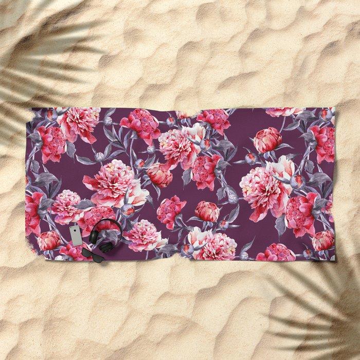 Peony Beach Towel