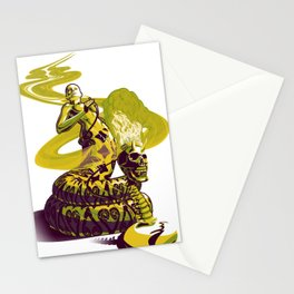 SnakeWoman and Demon-Skull Bong Stationery Cards