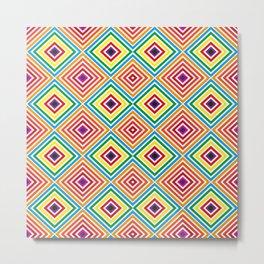 Colorful geometric pattern octagon Metal Print