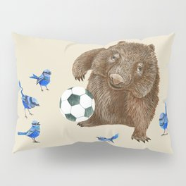 Blue wrens Wombat Football Pillow Sham