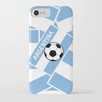 argentina iPhone & iPod Cases featuring Argentina Football by mailboxdisco