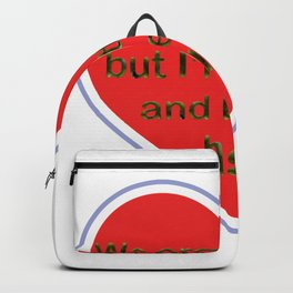 Every couple have a better half Backpack