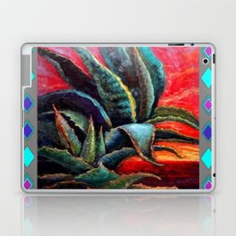 GREY ART DECO SOUTHWEST DESERT AGAVE Laptop & iPad Skin