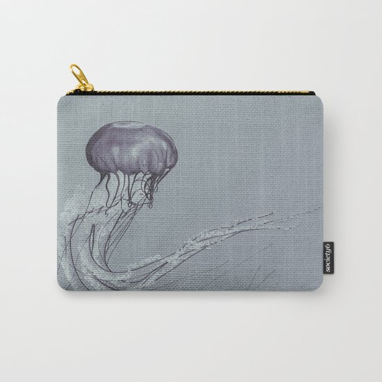 Black and White Jellyfish II Carry-All Pouch