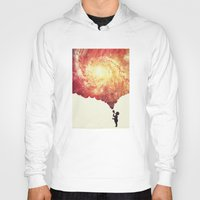 geology Hoodies featuring The universe in a soap-bubble! (Awesome Space / Nebula / Galaxy Negative Space Artwork) by badbugs_art
