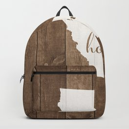 California is Home - White on Wood Backpack